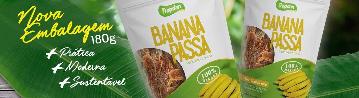 Nova Embalagem Banana Passa 180G