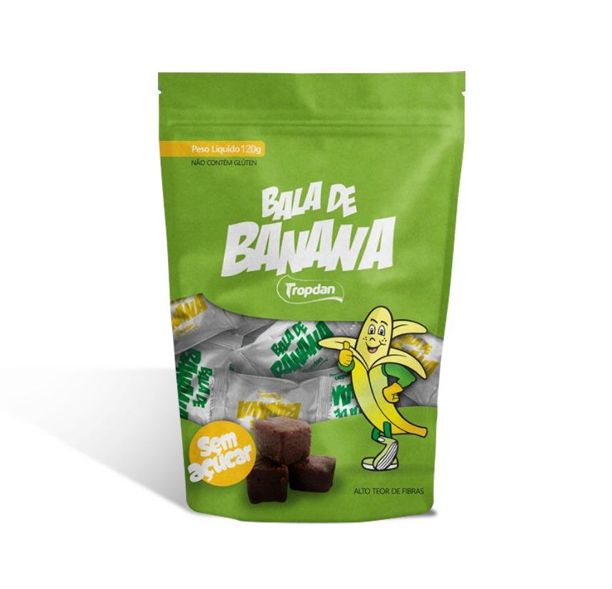 Balas de banana sem adição de açúcar - Pacotes com 120g