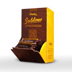 Doce de Banana sem adição de açúcar coberto com chocolate meio amargo - Display com 30 unidades de 15g